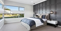 2018 HIA Winner Display Home of the year, The Odyssey is a spacious home, designed for seamless and functional entertaining with family and friends. Bungalow Floor Plans, Modern House Floor Plans, Dream House Plans, Modern House Design, Storey Homes, Display Homes, Bedroom Decor, How To Plan, Perth