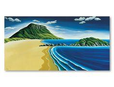 Mt Maunganui. Diana Adams, NZ Artist.