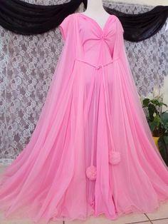 S.Vtg.2 pc Lucie Ann Claire Sandra Beverly Hills Vintage nightgown peignoir