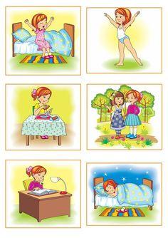 Сюжетные картинки для занятий с детьми - Режим дня дошкольника