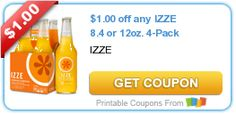 $1.00 off any IZZE 8.4 or 12oz. 4-Pack