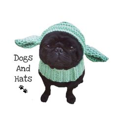 The yoda Star Wars dog hat. Who doesn't enjoy to dress up their dog? Now you can with this fun yoda dog hat/snood :) Fits small to medium dogs All my items are made to order Super Cute Dogs, Pug Pictures, War Dogs, Dog Wear, Medium Dogs, King Charles Spaniel, Handmade Clothes, Pugs, Pet Supplies