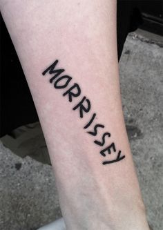this girl saw morrissey on the street in NYC, had him sign her arm, and then came running to the shop because she knew id be thrilled to tattoo this on her, and I was. I saw morrissey play at radio city music hall an hour later.