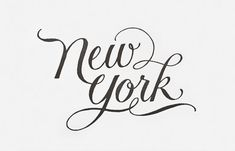 New-york-print-sugar-paper Typography Love, Graphic Design Typography, Typography Inspiration, Typography Letters, Branding Design, Logo Design, Lettering Design, New York, I Love Ny