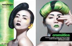 MAGAZINE COIFFURE on Behance make up & hair by fanny burgos  fannyburgos.com