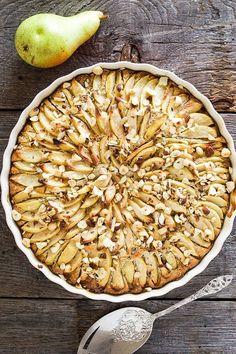 Hazelnoten cake met peer