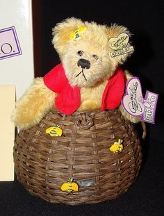 "Annette Funicello ""Buzz Bee"" Limited Edition Teddy Bear, w/Box on ruby lane"