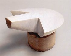 Constantin Brancusi Flying Turtle (Turtle) 1940-45 White marble on limestone base The Solomon R Guggenheim Museum, New York