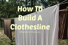 How To Build A Clothesline - Intelligent Domestications