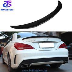 W117 carbon fiber rear wing spoiler. Email:info@brillstyle.com WA:008615218860968 Carbon Fiber Spoiler, Mercedes Benz, Trunks, Carbon Fiber, Drift Wood, Tree Trunks