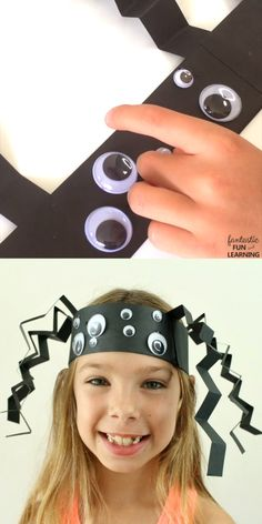 This spider headband craft is perfect for an S is for Spiders theme in our preschool classroom. This easy spider craft is also a great Halloween craft or insect theme idea.