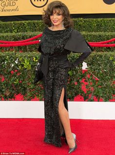 At 81, Joan Collins (pictured) sparkled in sequins on the red carpet recently...