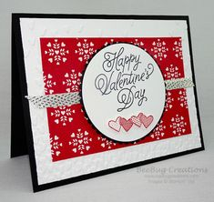 Handmade Valentine Cards with Stampin' Up! Valentines Day Cards Handmade, Love Valentines, Valentine Heart, Handmade Cards, Scrapbook Cards, Scrapbooking, Love Stamps, Card Crafts, Making Cards