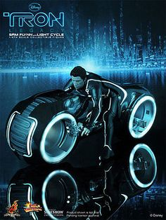 Hot Toys Disney Tron Legacy Sam Flynn With Light Cycle Action Figure for sale online Tron Art, Tron Light Cycle, Tron Bike, New Iron Man, Tron Legacy, Futuristic Motorcycle, Sci Fi Movies, Fiction Movies, About Time Movie