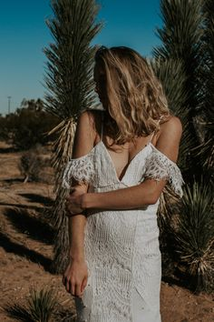 Dawn of a New Age is inspired by the defiance and collective shift of the feminine we've seen globally over the last year. You babes are just gonna have to… New Wedding Dresses, New Age, Free Spirit, Dress Collection, Daughters, Bell Sleeves, Dream Wedding, Backless, White Dress