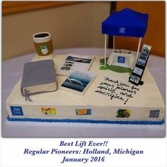 A dear sister made this cake with so much love for Regular Pioneers in Holland, Michigan Congregation.  So Amazing! All edible!  Please post to share if you wish!! @kuzcogomez thank you #jw_inspiritional
