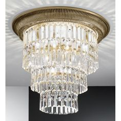 Kolarz Milord Crystal Ceiling Light Brass