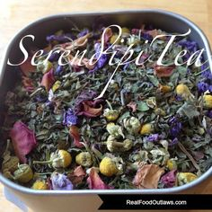 spearmint peppermint chamomile lemon balm rose petals blue cornflowers