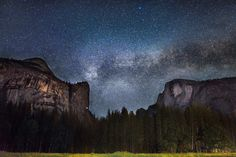"America's public lands, like Yosemite National Park in California (pictured here), are some of the best places for stargazing. Joseph Taylor captured this stunner of the endless Milky Way galaxy floating above the granite monoliths -- Washington Column and Half Dome -- in Yosemite's Stoneman Meadow. ""To be a part of a beautiful moment on Earth like this one is always breathtaking, but to capture it with my camera was incredible,""says Joseph. — at Yosemite National Park."