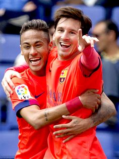 Neymar and Messi #footballislife