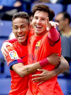 Neymar and Messi #footballislife