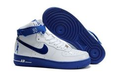 new style ab983 d55ff NikeAirForce1HighRasheedWallaceSheedPatentWhiteBlue Air Force One  Shoes, Air Force 1 High, Nike Air Force Ones,
