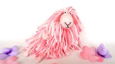 Cute Stuffed Animal - pink sheep - lamb stuffed animal - collectible plush toy - for girlfriend cute gift, soft sculpture, felt animal, funny animal, pocket friend, funny pet, amigurumi toy, stuffed toy, cute sheep, for girlfriend, miniature, funny gift, pink lamb