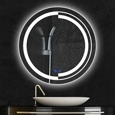 Led Mirror, Wall Mounted Mirror, Mirror With Lights, Led 12v, Waterproof Led Lights, Video Installation, Lumiere Led, Rear View Mirror, Strip Lighting
