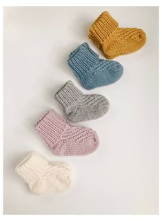 Free Newborn Knitting Patterns, Knitting For Kids, Knitting Socks, Hand Knitting, Knitting Tutorials, Knitting Machine, Vintage Knitting, Knitted Baby Clothes, Knitted Baby Socks