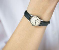Minimalist lady's watch women's wrist watch Ray round by SovietEra