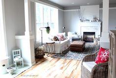 family room hardwood floor makeover