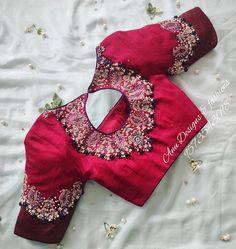 Wedding Saree Blouse Designs, Pattu Saree Blouse Designs, Fancy Blouse Designs, Latest Saree Blouse Designs, Pattu Sarees Wedding, Blouse Styles, Blouse Back Neck Designs, Boat Neck Designs Blouses, Latest Silk Sarees