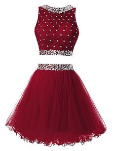 Two Pieces Homecoming Dress, School Outfit, Short Prom Dresses For Teens pst1685