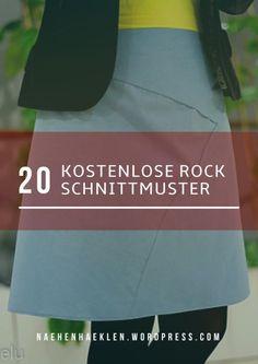 20 kostenlose Rock Schnittmuster, auch Plus Size. 20 free skirt pattern.
