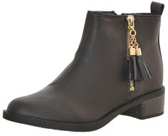 Peppermint Gold Tassel Low Chelsea Ankle Boot Black: Black - - Peppermint Gold Tassel Low Chelsea Ankle Boot Black Black from Peppermint Chelsea Ankle Boots, Black Ankle Boots, Girls Dream, Peppermint, Tassel, Booty, Amazing, Gold, Shoes