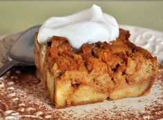 Pumpkin Bread Pudding #pumpkinpie #thanksgiving
