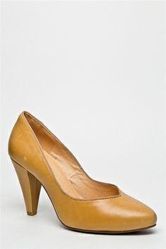 Chelsea Crew - Pauline High Heel Pump - Mustard at DNA Footwear