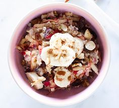 Soaking oats and seeds overnight makes them easier to digest, and the muesli will be extra creamy. Great for a quick breakfast straight from the fridge Breakfast On The Go, Perfect Breakfast, Breakfast Ideas, Breakfast Recipes, Apple Breakfast, Bbc Good Food Recipes, Cooking Recipes, Gf Recipes, Breakfast