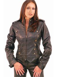 Studded Womens Brown Leather Jacket