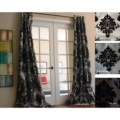 Spruce up the look of your windows easily with these polyester curtain panels. These curtains are made with polyester and feature grommets at the top for easy hanging. Each panel features a damask pattern in your choice of four color options.