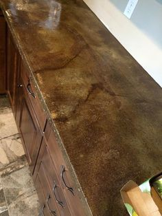 How To Acid Stain Concrete Countertops | Stained Concrete Countertops, Acid Stain  Concrete And Acid Stain
