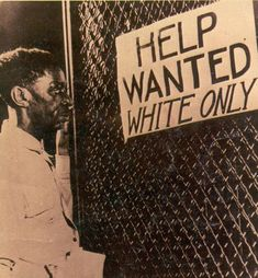 Segregation at Its Worst....What America has overcome...What we Do NOT want to see again....in any fashion.