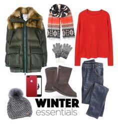 """Winter essentials"" by evelinal on Polyvore featuring moda, Sacai, Wrap, EMU Australia, MANGO, Norton, John Lewis, Winter, Christmas i warm"