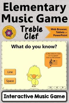 Are you prepping reading notes on the Treble Clef staff? You will want to start with this interactive music game first! Is it on a line or in a space? Music Classroom, Music Teachers, Classroom Ideas, Music Education Activities, Elementary Music Lessons, Reading Notes, Music Lesson Plans, Treble Clef, Teaching Music