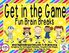 "This was made with permission and help from Dr Jean.This unit contains over 66 Brain Break ideas from Dr. Jean herself. Store all the brain breaks using the provided ""locker room.""Cards are organized into Sports Themed:Baseball- crossing the mid lineBasketball- skill building movementsHockey- buddy timeSoccer- odds and endsTennis- have a racket with these musical movementsSporting EventsUnwind from the Game- calming activitiesCheck out these other collaborations with Dr."