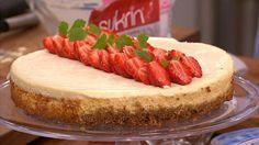 FRISK: En deilig og smakfull ostekake er perfekt å servere på sommeren.
