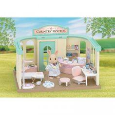 Calico Critters Country Doctor is a fully furnished doctor's office playset for all your Calico Critters.