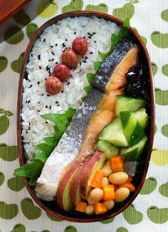 Japanese Traditional Salmon Bento Lunch|Shakeben シャケ弁
