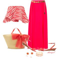 """Crop Top And Maxi Skirt Contest"" by sherryvl on Polyvore"