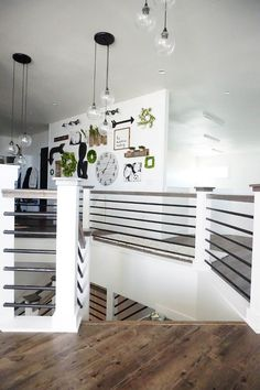 Modern railing works well with a farmhouse style but would transition well into an industrial style loft or other modern styles.